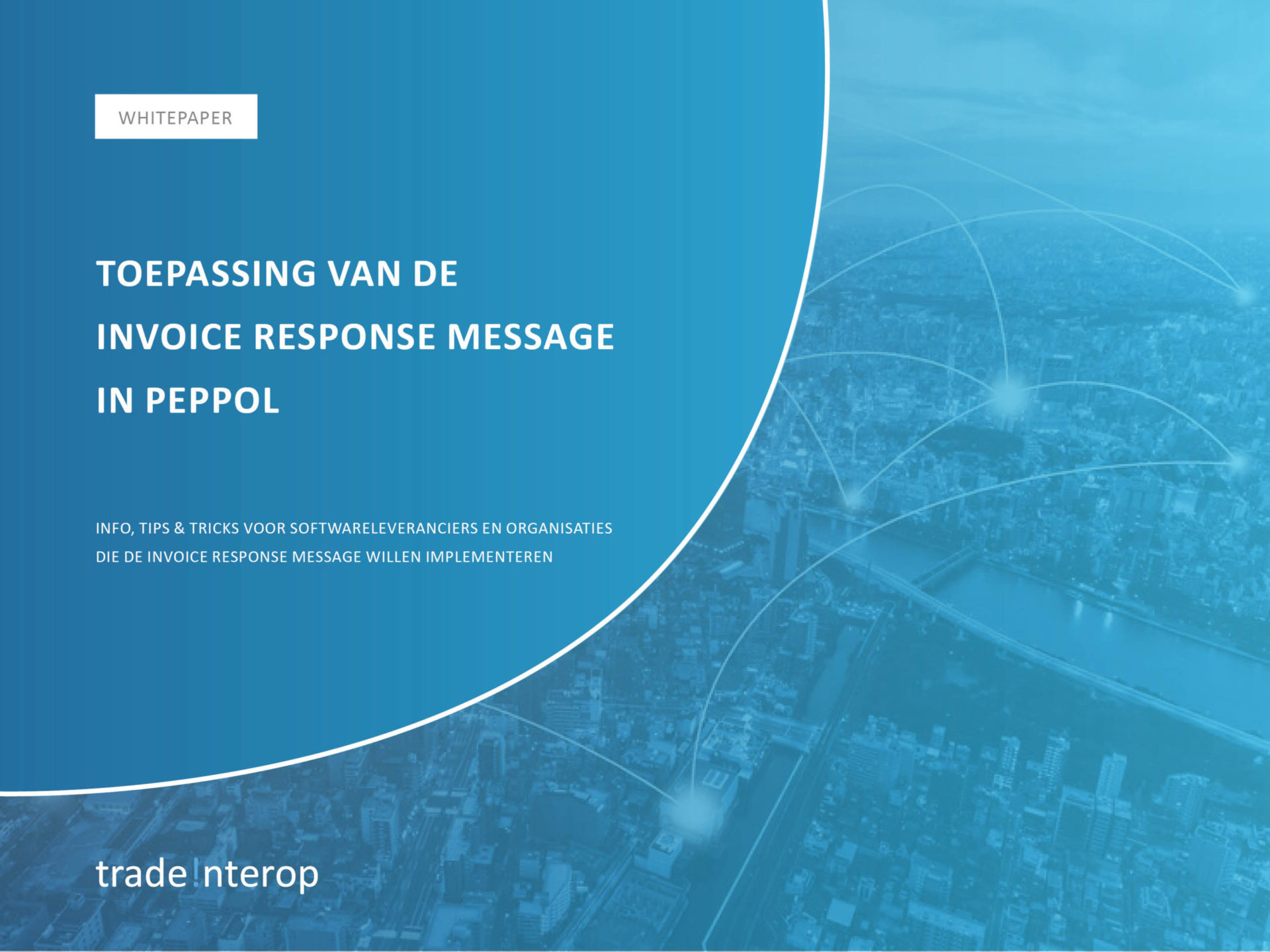 Front of white paper invoice response message
